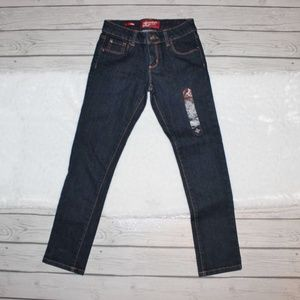 NWT Arizona Jean Co Dark Wash Skinny Jeans Boys 10